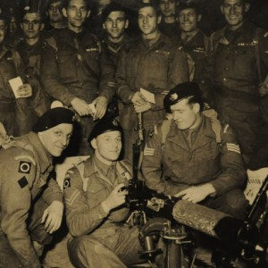 Arthur Sykes with his comrades in Korea