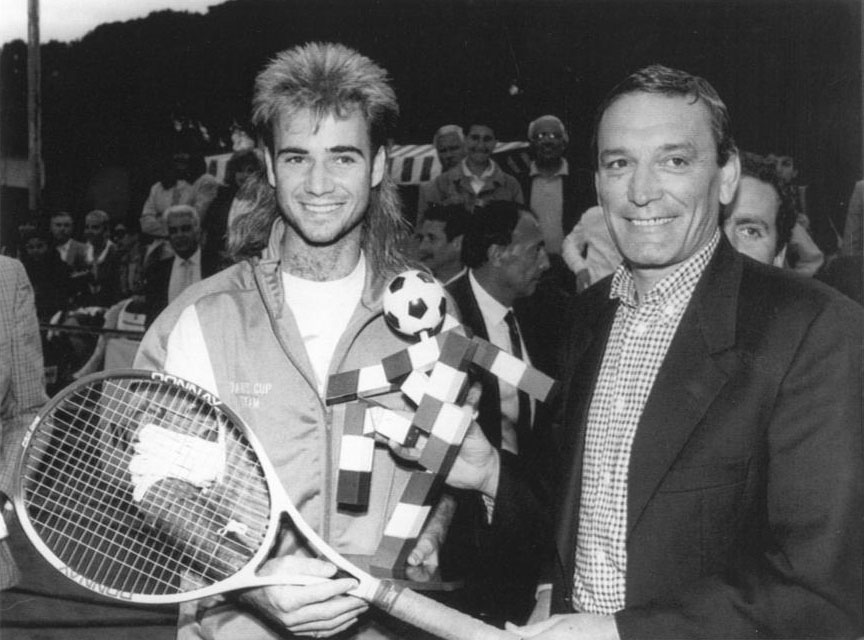 Agassi in the 80's