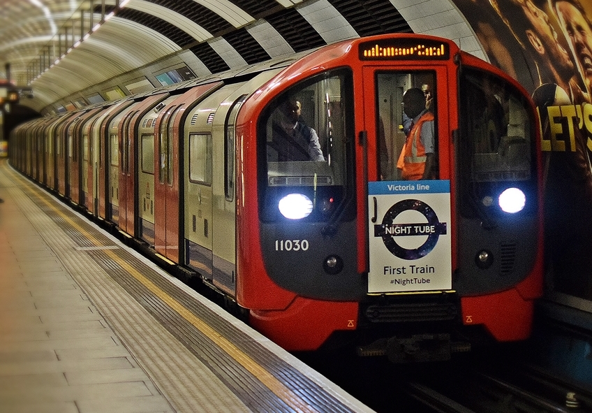London's Victoria line night tube