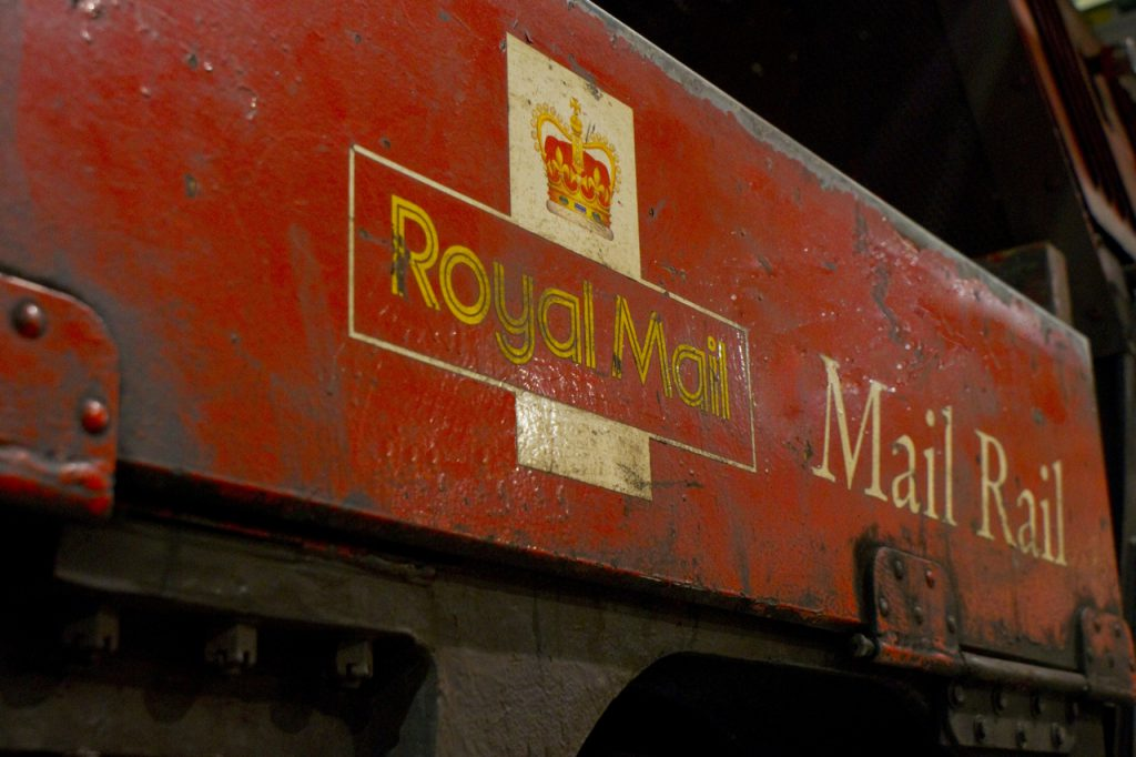An old Royal Mail 'mail rail' carriage